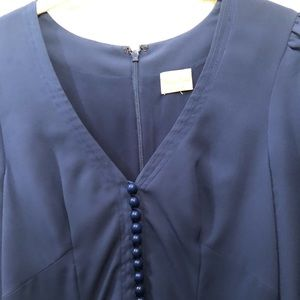 Tracy Reese blue button front dress size m